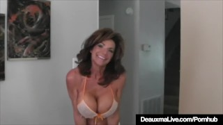Hot Cougar Deauxma Squirts A Puddle After Dildo Banging Twat porno
