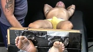 Expert tickler driving sexy restrained stud totally crazy