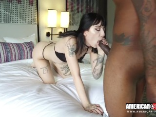 Goth Charlotte Sartre Gets Anal Pounding and Creampie in her tight Asshole