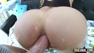 TRUE ANAL Bubble butt Mia Malkova anally gaped Music petite