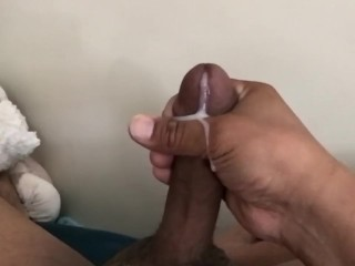 Thinking of you while I cum in the air