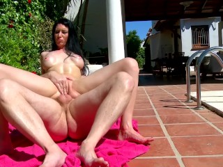 Bubble Butt Teen Latina Gets Fucked By Horny Nieghbor By The Pool