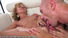 LustyGrandmas Hairy Granny Eaten and Drilled to Satisfaction!