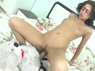 My Teddy Bear feel as soft as my boobs so I got horny and fucked it
