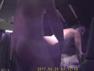 Prostitute romena on the truck
