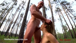 The mouth mia fuck in outdoor bandini to forest incredible ass cum eating