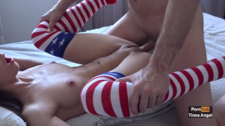 Naughty Schoolgirl Gets Her Tight Pussy Fucked 4K