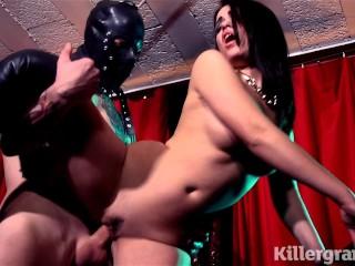 Killergram Ava Dalush is a submissive slut fucked by masked master