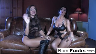 Lesbian sex romi rain hot bubble shaved