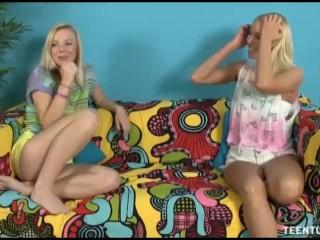 Three Horny Teens Offer Local Hunk A Big Milking