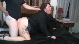 Chastity gets her mouth and pussy fucked.