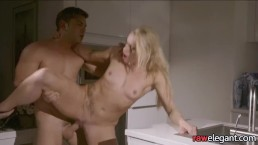 Busty euro pussyfucked after blowjob
