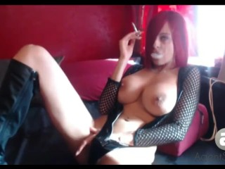 AgentSexyHot Webcam Smoking break
