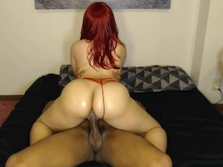 Milfs awaiting spanking bubble booty chick rides dick w/ sexy red panties on! Butt big cock re