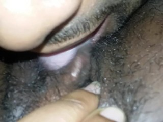 Getting big clit licked and sucked on
