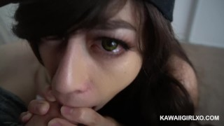 Cute Teen Sucks And Tugs The Cum Out Of My Hard Cock