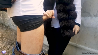 MILF Suck Strangers in Public and Fucks Doggystyle - Cristall Gloss Submissive anal