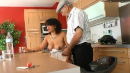 PREGNANT HOUSEWIFE TAKE COCK FROM OLD PERV NEIGHBOR