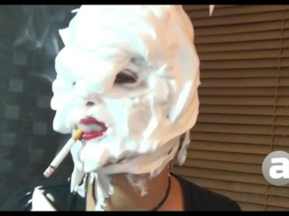 Sandi Shaving Cream Lipstick Smoking