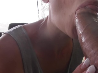 Short Clip 2 - Princess Poppy Sucks Thick Cock Outdoors
