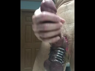 4 cock rings with 4 cumshots