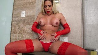 Latin Tranny Whacks and Fucks her Ass - Fetish Shemale
