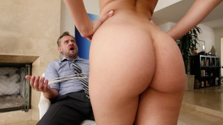 BANGBROS - PAWG Step Daughter Aidra Fox Takes Control Of Daddy Of big