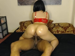 Sweet Mami 3 Sexy Slut Rides Hard Bbc In Sexy Red Bra & Gets Pussy