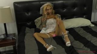 Sarah Jessie - Femdom Wedding - Cuckold & Ass Worship & Foot Worship Masturbate girl