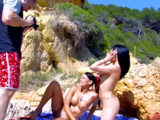 YOUNG SLUTS USE ANAL BEADS IN HARDCORE THREESOME
