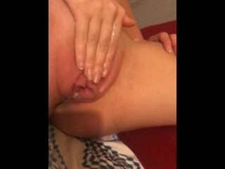 fingering my tight little pussy