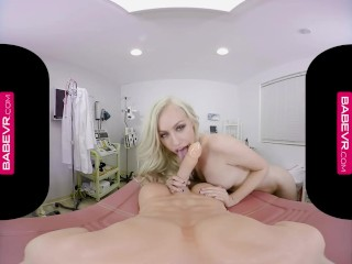 BaBeVR.com Hot Blonde Doctor Lyra Law Takes Care Of Viagra Effect