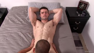 Straight Military Jock Barebacks His Best Friend Daddy kissing