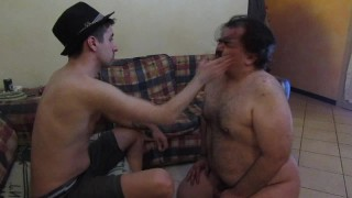 young master slaps and spits on his slave