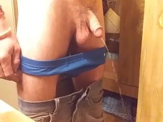 Leo Piss Vid Spy Cam Taking Pants Down Exposing Limp Dick then Pissing