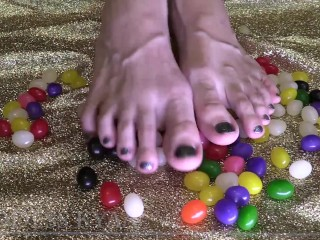 Savor My Toe Candies - ASMR - Bare Foot Fetish