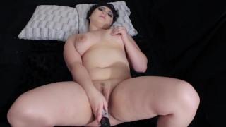 hot bitch sucks and fucks dildo  big boobs adult toys chubby masturbate