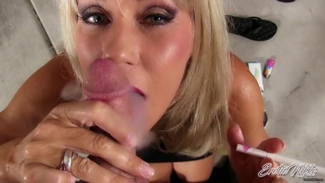 Erotic nikki tube Fratboy cums all over milf tits after pov smoking blowjob