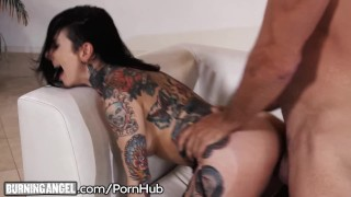 Tattoos angel on jizz to explosion pounds cock big joanna shot doggy