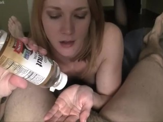 Fitness Model Redhead Gives Amazing Handjob