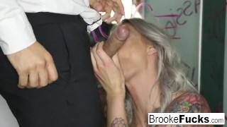 Brooke Brand takes a massive English cock