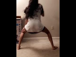 My girlfriend shaking her little round ass