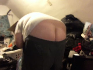 buttcrack - shorts keep falling down putting clothes away