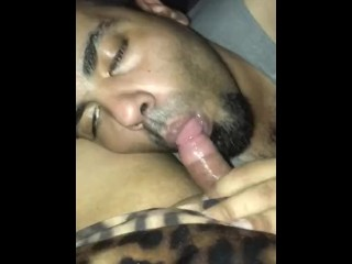 Me worshipping a ts cock