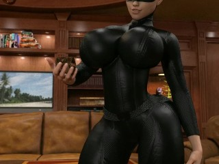 The heist (catwoman giantess growth)