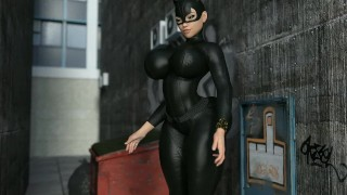 The heist (catwoman giantess growth)  kink giantess catwoman giantess crush mega giantess giantess girl giantess growth