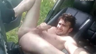 Grey car young french twink jo thony moaning squirt