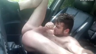 Young French twink car JO - Thony Grey Sex anal