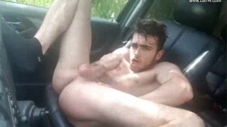 Young French twink car JO - Thony Grey porno
