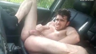 Young French twink car JO - Thony Grey Suck pov